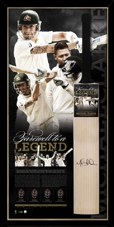Michael Clarke Retirement Bat