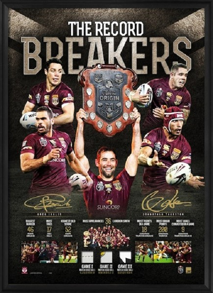 RECORD-BREAKERS--DUAL-SIGNED-MAROONS-SUCCESS-LITHOGRAPH 435 x 600 copy