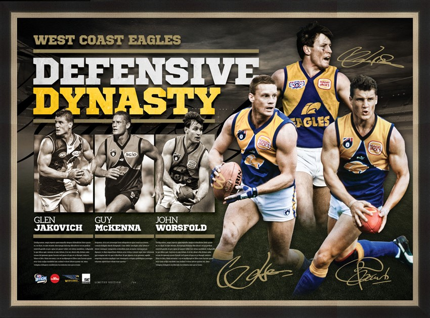 West Coast Eagles Litho Mockup